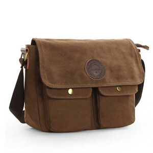 Men-039-s-Canvas-Cross-Body-Bag-Messenger-Shoulder-Book-Bags-School-Satchel-Vintage