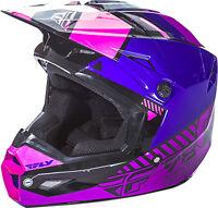 Fly Racing Elite Onset Motocross Atv Mx Helmet Pink/purple/black Kids Youth Size