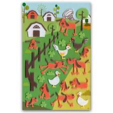 ✰ CUTE FARM DOG FELT STICKERS Sheet Animal Scrapbook Country Barn Fuzzy Sticker