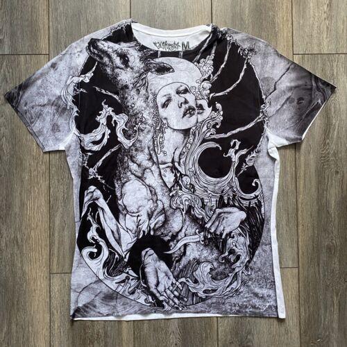 Disturbia Clothing les liens du sang partout sur le devant imprimé Hommes T Shirt