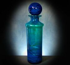 SUPERB LARGE MDINA GLASS BOTTLE AND BALL STOPPER