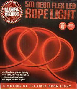 5 M Neon Flex Tube lumineux Flash DEL flexible lumière bande Tube Fil Soirée Gard
