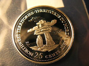 Canada-1992-NWT-Join-Confederation-Gem-Silver-25-Cent-Coin