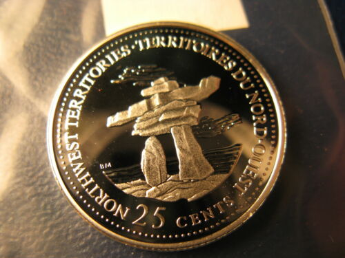 Canada 1992 NWT Join Confederation Gem Silver 25 Cent Coin.