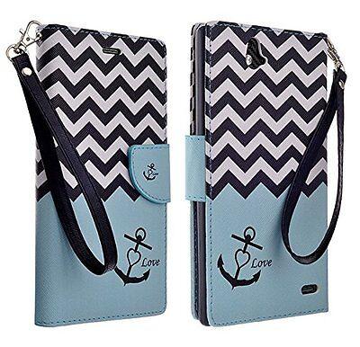 ZTE Grand X Max Design Wallet Credit Card Flip Phone Case Cover Accessory Z787