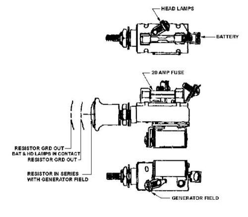 AB2687R AF687R 3 Position Light Switch 6 Volt for John Deere JD Tractor A B D G