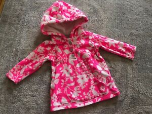 0a22c69a3942 Carter s Fleece Peach Zip Hooded Jacket Bright Pink Floral Baby ...