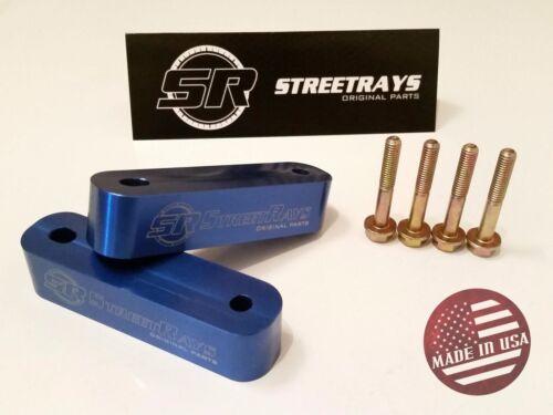 StreetRays Originals Hood Spacer Risers CIVIC INTEGRA CRX RSX PRELUDE BLUE