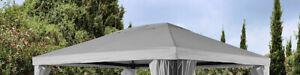 Ersatzdach-Dach-fuer-Pavillon-3x4m-hellgrau-Pavillondach-Polyester-7220137