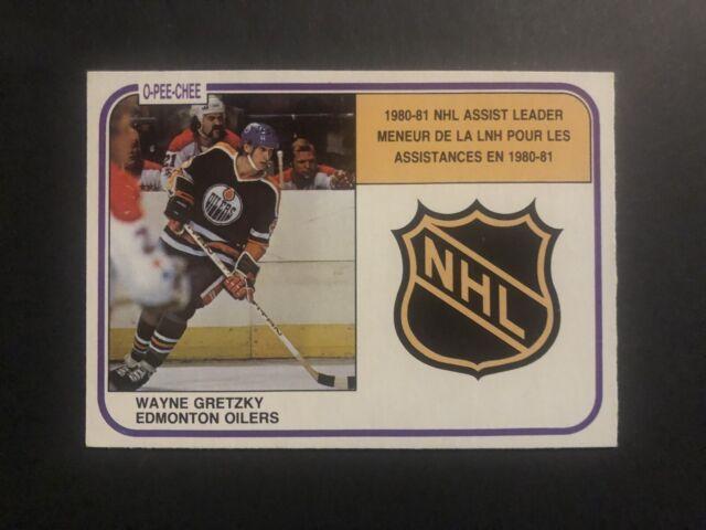 O-Pee-Chee Hockey 1981 Wayne Gretzky #384 Scoring Leader
