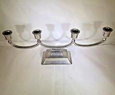 Just Andersen Danmark Vintage Art Deco Candelabra Candle Holder Pewter Denmark