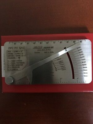 17 Pipe Pit Gage Welder Tool in Box w//Etching on Back Side shelf-h3 GAL #17 No