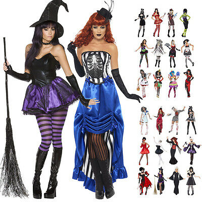 Clearance Ladies Womens Horror Girl Halloween Party Fancy Dress Outfit Costume