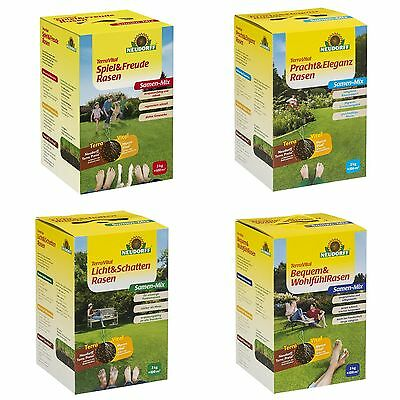 TerraVital Spiel /& Freude Rasen 3 kg NEUDORFF Rasensamen Raasensaat Samen