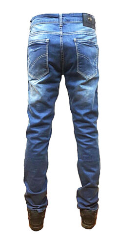 RE Denim Slim Fit Star Zip jeans biker strappi G Urban Hip Hop Dritto Fit