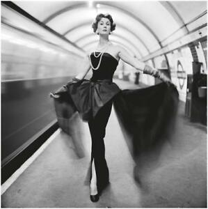 Barbara Goalen 60s New York Subway Canvas Art Movie Poster Print Fashion Model
