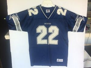 sports shoes 3e373 cacab Details about Vintage Logo Athletic Dallas Cowboys #22 Emmitt Smith  Football Jersey Made USA