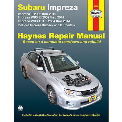 Haynes Workshop Manual for Subaru Impreza 02-11, Impreza WRX 02-14 & WRX STI