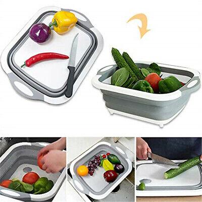 Chopping Board Folding Drain Basket Multi-Function 3 In 1 Sink Cutting Board RE