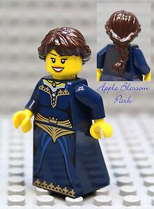 NEW Lego Dark Blue Pirate FEMALE MINIFIG Castle Kingdom Princess Brown Hair Girl