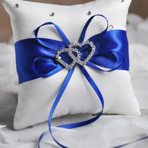 Ringkissen Kristall Herz Eheringe Hochzeit Brautkissen Ehering-Halters Kissen DE