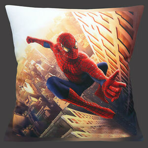 Spiderman-Funda-de-cojin-40-6cm-40-cm-Comic-Action-heroe-Escalada-edificio