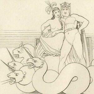 Divine-comedie-Purgatoire-Dante-sommeil-Montres-Prostituee-John-Flaxman-Gravure
