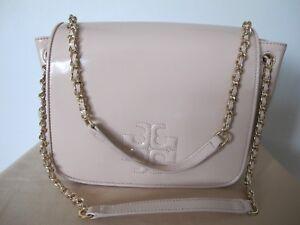 Tory-Burch-Light-Oak-Leather-Small-Flap-Shoulder-Bag-New