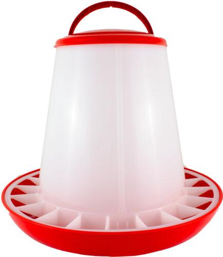 Geflügelfutterautomat hasta 6 kg pienso con tapa rojo/blanco