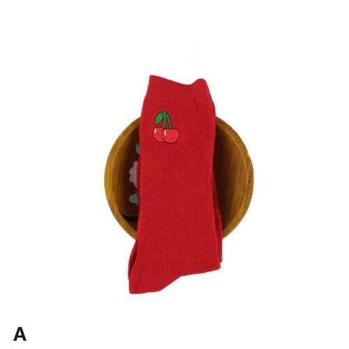 Frauen-Avocado-Pfirsich-Frucht-nette Socken Harajuku Stickerei-Baumwollsock P0G6