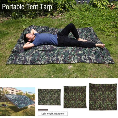 Camo Outdoor Portable Lightweight Rainproof  Mat Rain Tent Tarp Sunshade Shelter