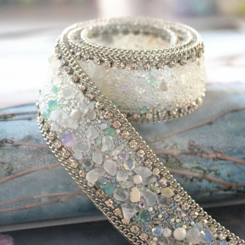2.5x50 cm Sewing Bridal Trim Rhinestone Apparel Chain Costume Applique Crafts