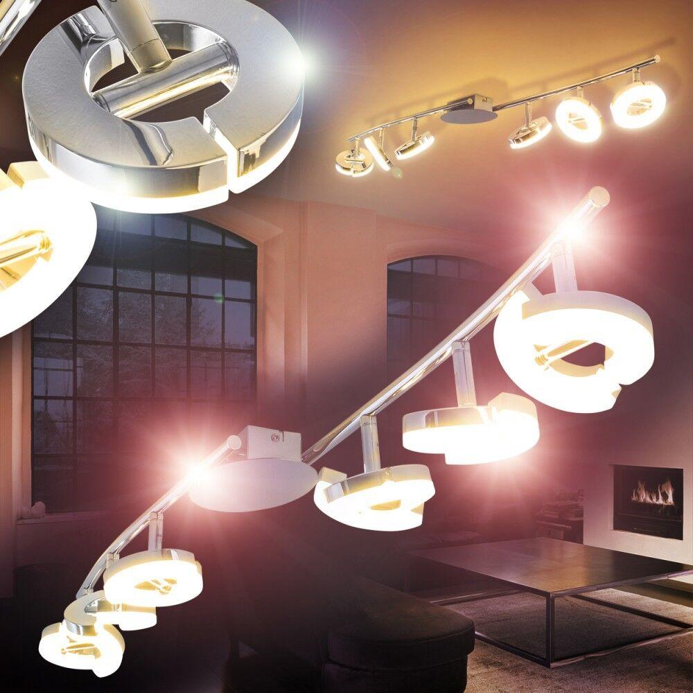 fino al 42% di sconto LED LED LED soffitto Spot Design Lampada da soffitto plafoniera soggiorno singolarmente scorrevole 6er  prima qualità ai consumatori