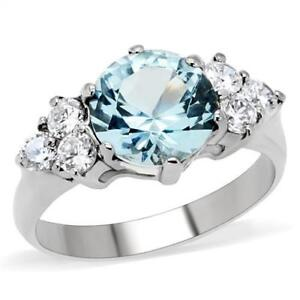 Image Is Loading 3ct ROUND SOLITAIRE ENGAGEMENT RUSSIAN SIM BLUE DIAMOND