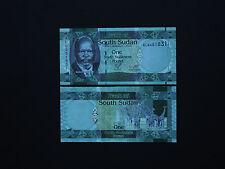 SOUTH SUDAN  1,5,10  POUNDS SET  p5,p6,p7   GREAT COLOURS  * EXCELLENT UNC *