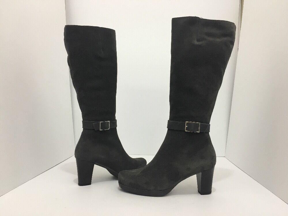 La Canadienne Katia damen Knee High Waterproof Heel Stiefel Moka braun Suede 9.5