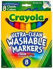 Crayola 10 Count Broad Line Ultra-Clean Washable Markers One Size Multi