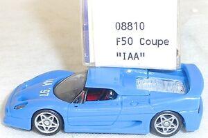 F50-Ferrari-coupe-bit-bleu-clair-Mesureur-EUROMODELL-08810-h0-1-87-OVP-ll1-a