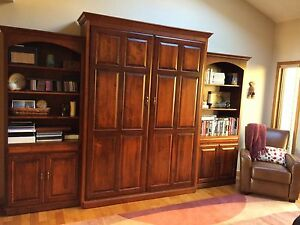 Custom Queen sized Murphy Bed with 33 cabinets