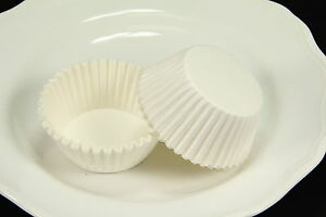 100x 2'' Paper Cupcake Muffin Liners Baking Cups, White, Standard Size