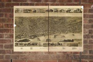 Vintage-Memphis-Print-Aerial-Memphis-Photo-Vintage-Memphis-TN-Pic-Old-Memphis