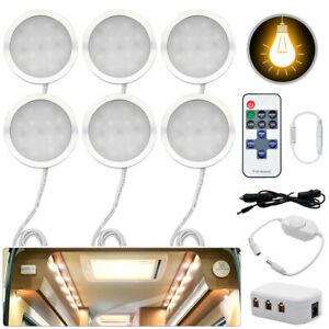 6x-Interior-LED-Spot-Lights-For-VW-T4-T5-Camper-Van-Caravan-Motorhome-light-12V