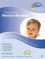 ALVI MOLTON-WINDELN Windel 2er Pack Größe 80 x 80 cm Reine Baumwolle Babypflege