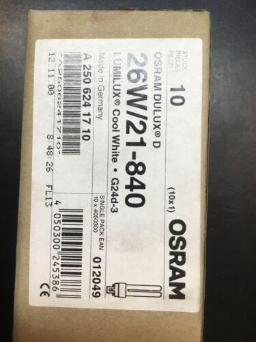 10 Stück OSRAM DULUX D 26W 21-840 G24d-3