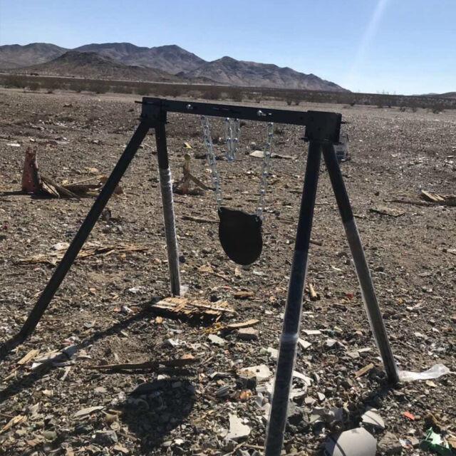 Shooting Target Metal Steel Targets Rifle Pistol Stand Gong Gun Spinner Handgun