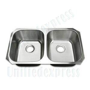 Magnificent Details About Upc Certified 32X18 Undermount Kitchen Sink 18 G Stainless Steel Double Bowl Download Free Architecture Designs Terchretrmadebymaigaardcom