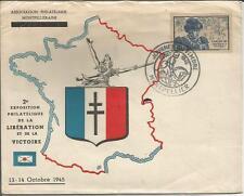 Francia 1945 JOURNEE DU TIMBRE sello día Luis XI liberación Montpellier Cubierta