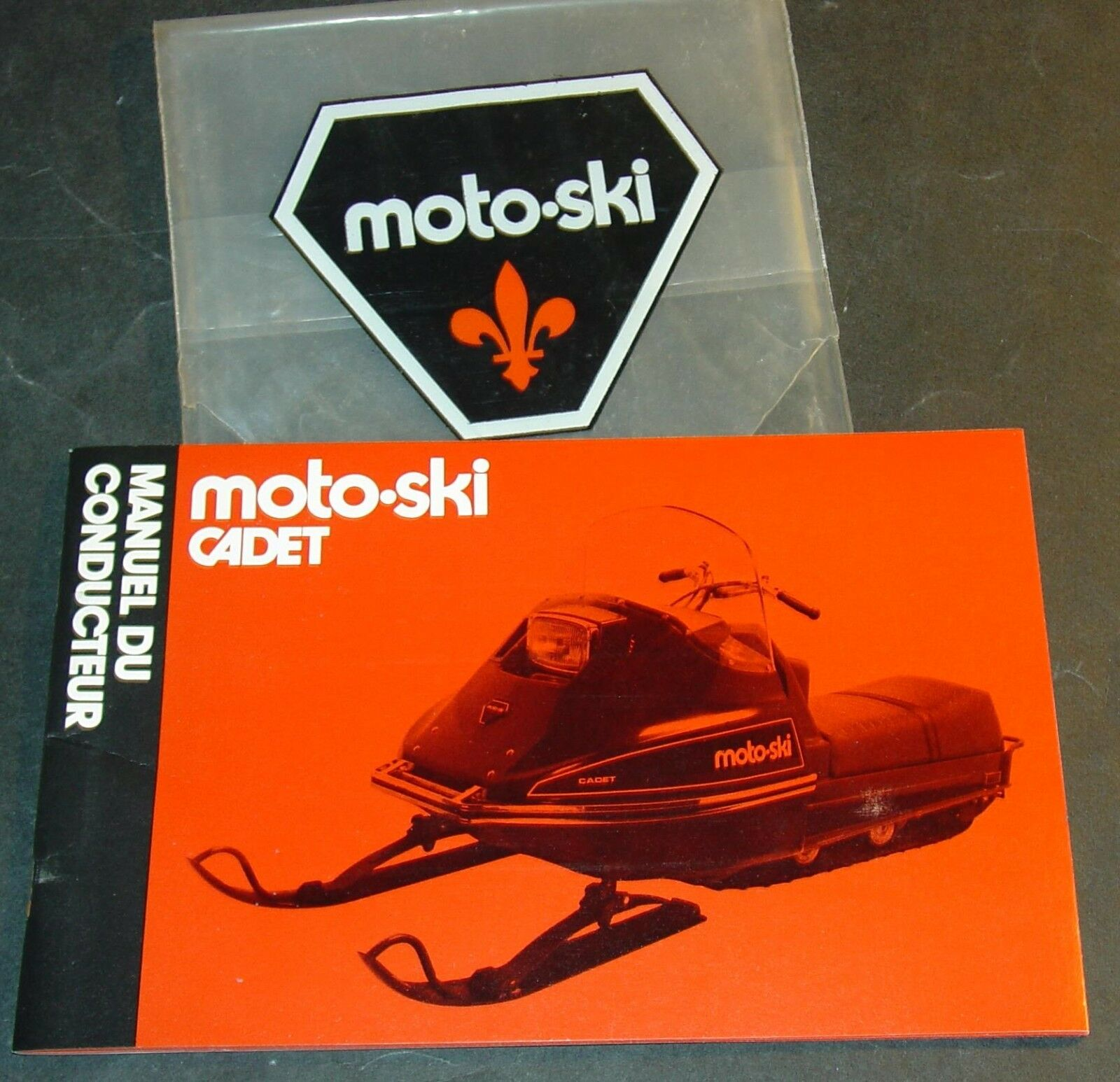 FRENCH 1973 MOTO-SKI CADET SNOWMOBILE OWNERS MANUAL VERY NICE++   (732)