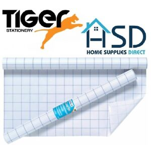 Tiger-Clear-Sticky-Back-Plastic-Book-Cover-Film-Adhesive-Roll-Protector-Fablon