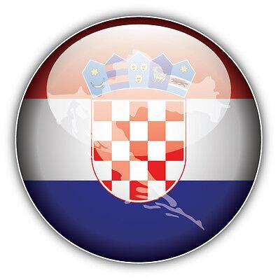 Croatia Flag Glossy Car Bumper Sticker Decal 5/'/' x 5/'/'